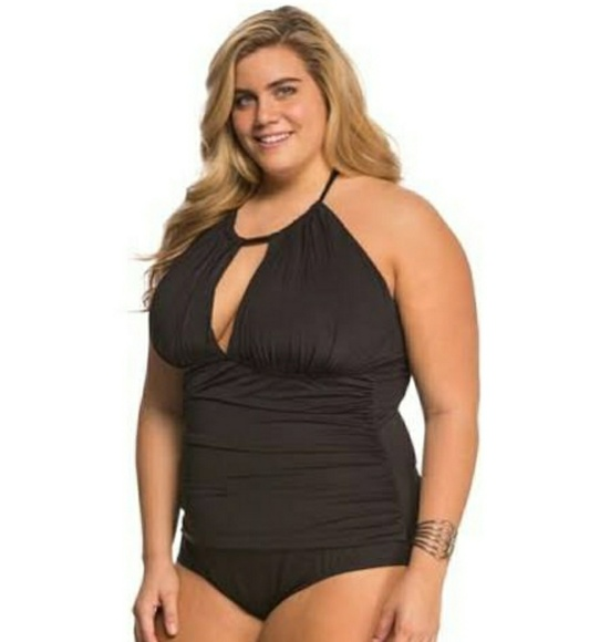 31f08eea0d1 KENNETH COLE REACTION 2X(20 22) high neck swimsuit